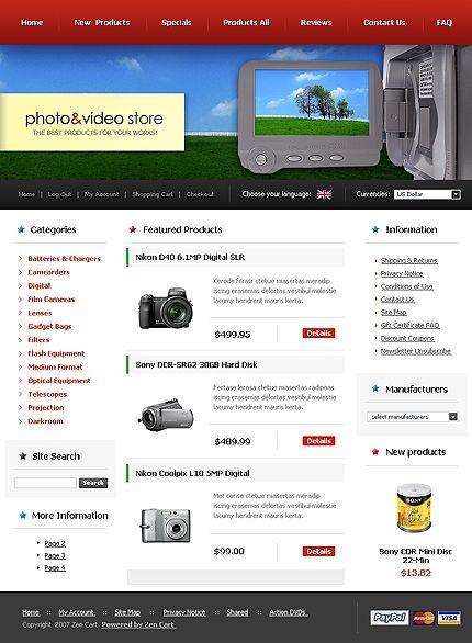 Photo Video ZenCart Templates by Delta