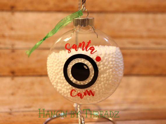 Santa cam ornament-christmas ornament-holiday family