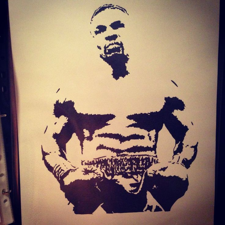 Mike Tyson, Black pigment ink, A3