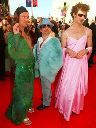 """South Park"" creators Trey Parker and Matt Stone gave a hilarious take on two of the most notable red carpet looks when they showed up the at the Academy Awards in 2000. Click through for more of the worst #Oscar red carpet looks"