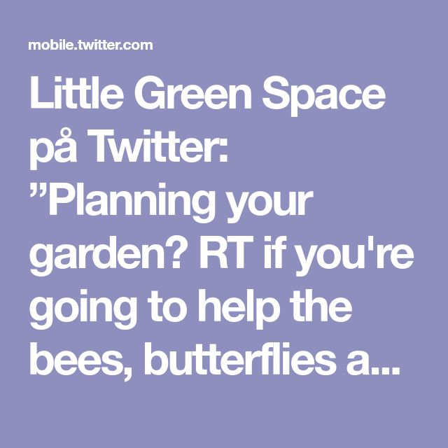 "Little Green Space på Twitter: ""Planning your garden? RT if you're going to help the bees, butterflies and moths by thinking like a pollinator! 🐝 #nature #gardening https://t.co/p7Eyk5mt0s"""