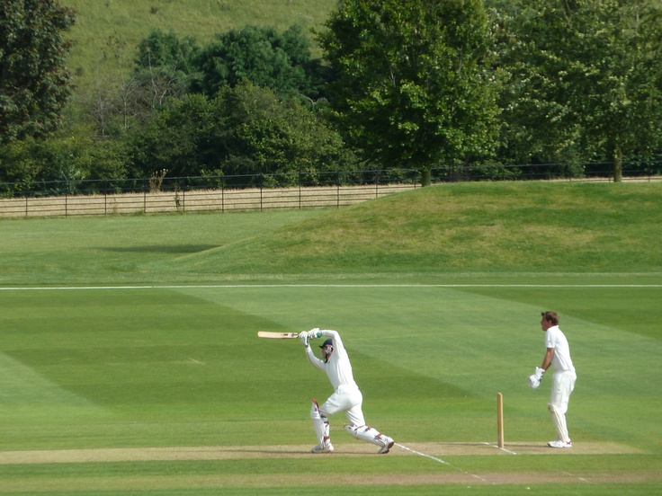 Batting at Wormsley.....one of the most beautiful grounds in England. John Paul Getty created it in 1992....just stunning.