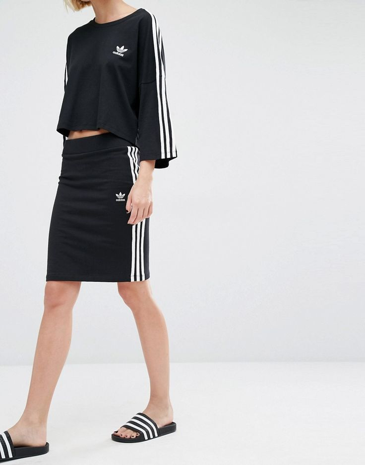 Image 4 of adidas Originals Three Stripe Skirt