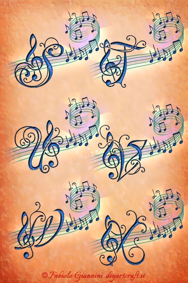 Alfabeto Musicale 26 Lettere Chiave Di Violino Parole Musica