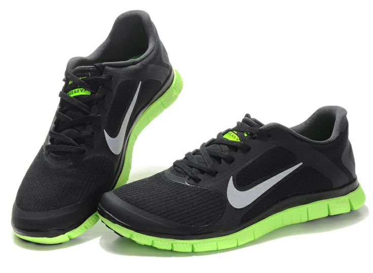 Nike Running Shoes Free 3.0 V4 Summer Grey Royal Blue Green Men'S Complete Range Of Articles