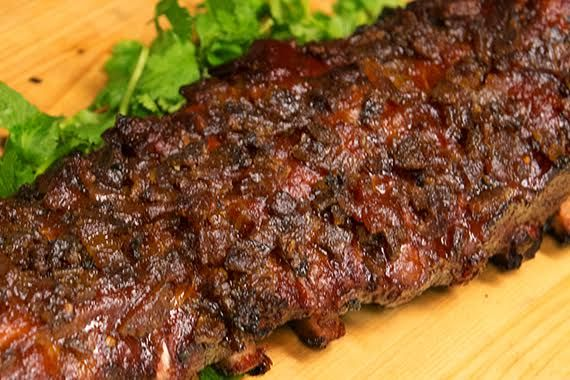 These are the best ribs we've ever had. If you haven't tried lovemesomebacon.com Candied Bacon Baby Back Ribs, you need to do them this weekend!
