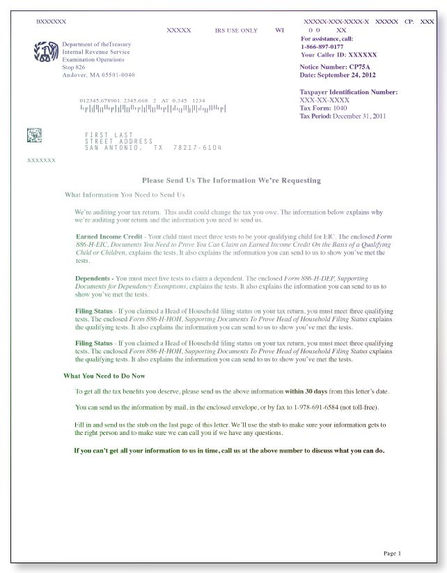 irs audit letter cp75a 2017 2018 letter templates resume templates no response