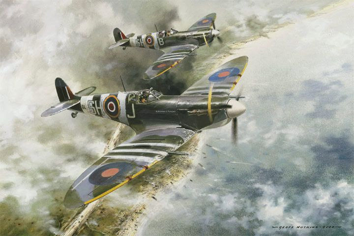 WW2 Aircraft Art - Aviation Art by Geoff Nutkins