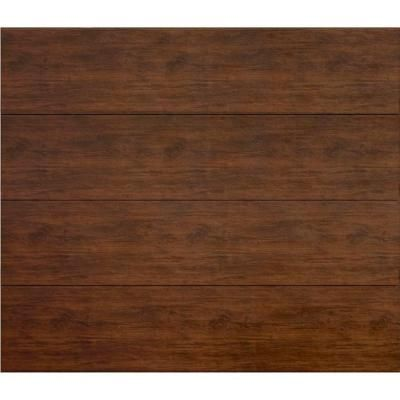 Martin Garage Doors, Wood Collection Summit 8 ft. x 7 ft. Flush Panel Walnut Woodgrain Steel Back R8 Insulation Garage Door, HDIY-000284 at The Home Depot - Tablet