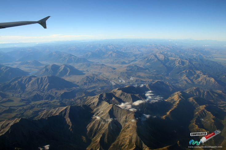 "Over the mountains of New Zealand's south island. ""The Truth about Flying"": http://www.confiscatedtoothpaste.com/the-truth-about-flying/"