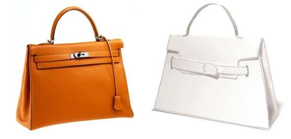 How to Print, Cut & Fold Your Own DIY Hermès Paper Handbag   fun for a creative office or home dressing area