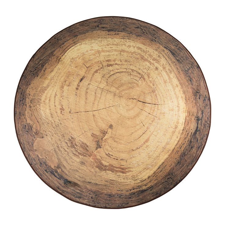 Add woodland elegance to your interior space with this Forest round rug from MeroWings. Made from 100% polyester, the durable rug is circular in shape with a design reminiscent of a slice of tree trun
