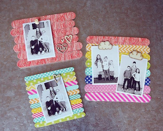 Popsicle Stick Frames | Easy DIY Wooden Picture Frames For Teens | DIY Projects