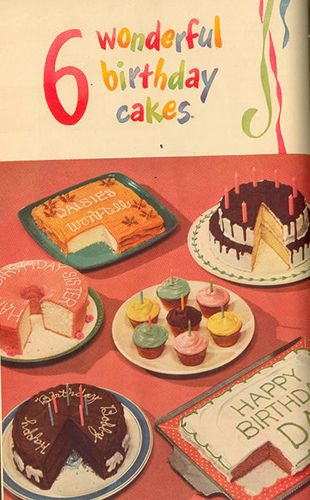 Vintage cakes... love the simplicity!