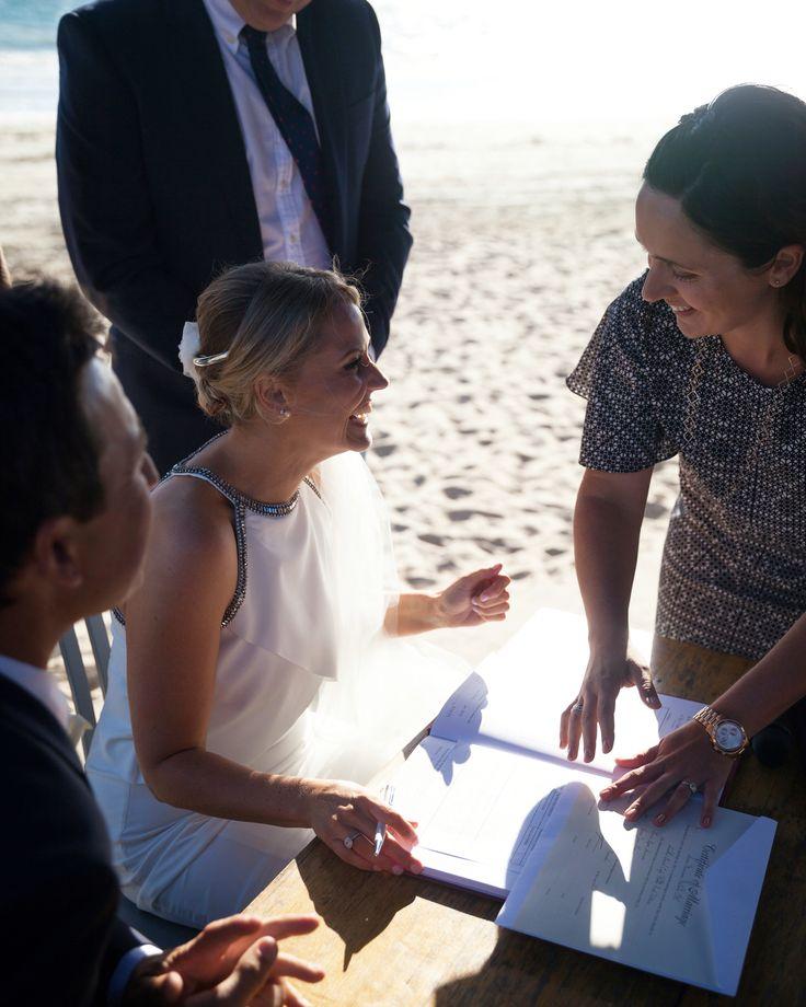 A gorgeous beach wedding at the Sandbar in Middle Park.