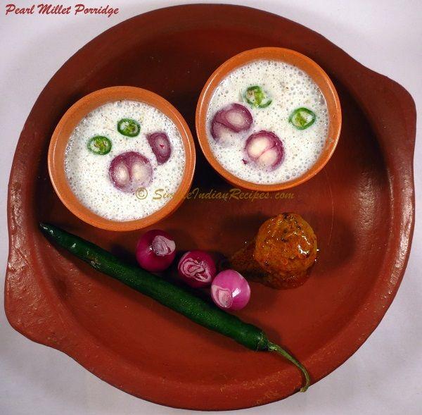 Pearl Millet Porridge - Bajra - Kambu Koozh   Simple Indian Recipes