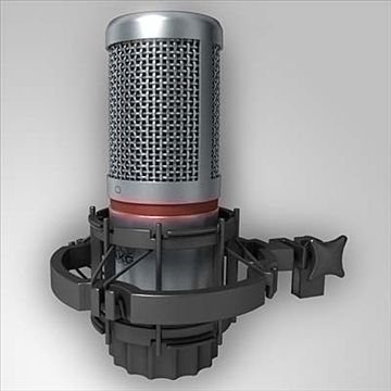 AKG C 2000 B Microphone 3D Model-   AKG C2000 B Large-Diaphragm Low-Proximity Effect Studio Microphone for recoreding Brass, Percussions, Recording, Vocals.With AKG H85 Universal shock mount. High-detailedIncludes Vray-materials, Mental-Ray and simple Scanline (fast render) materials in separate scenes.Non-Scanline scenes with included pre-configured lighting, environment and GI settings (like on screenshots)FBX, OBJ and 3DS as a transport formats (with all textures) - #3D_model #Microphone