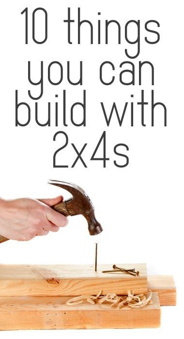 ten ideas of things you can build with 2x4s