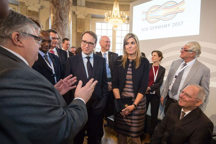 La Reine Maxima a l'ouverture de la conference d'inclusion financiere