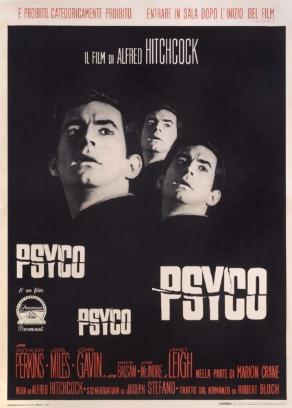 1960 Psycho / Psyco Original Italian Film Poster. £1800 at Vintage Seekers.
