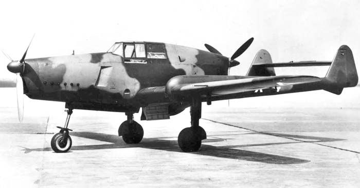 Fokker DXXIII: a Dutch fighter design with a tractor and a pusher propeller