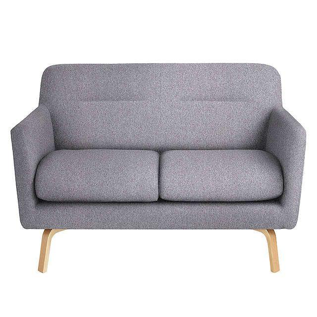 BuyJohn Lewis Archie Small 2 Seater Sofa, Light Leg, Saga Grey Online at johnlewis.com