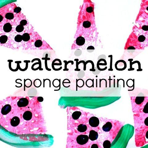 Summer and watermelon go hand in hand. For your preschool watermelon theme create watermelon art!