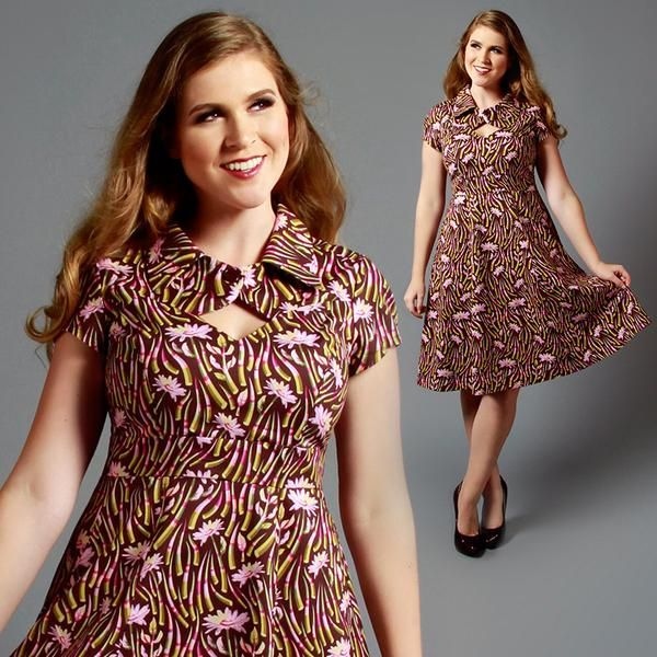 It's the perfect pin up dress that can go from office to date night with the flick of the button! Retro and vintage inspired dresses in reg and plus size.