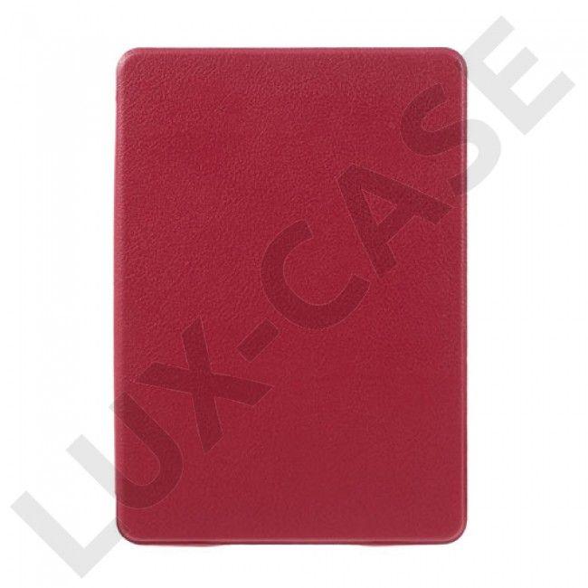 Litchi Amazon Kindle Paperwhite 3/2/1 Flippetui av lær - Rød - GRATIS FRAKT!
