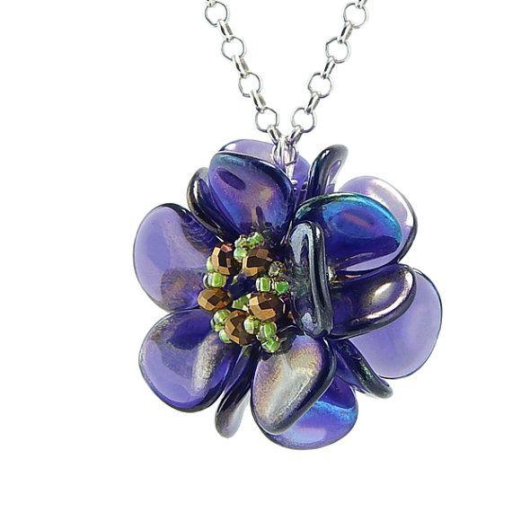 Tutorial Beaded Bead Using Rose Petal Beads & Seed by 1beadweaver