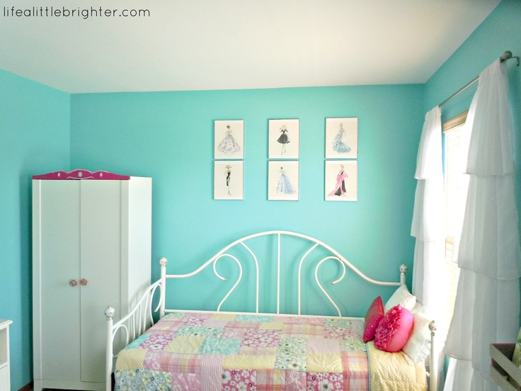 Turquoise Dark Pink Girl 39 S Room Life A Little Brighter
