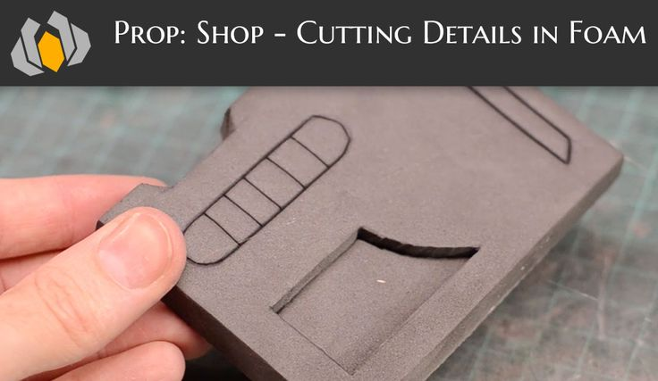 Bill shows how to cut intricate details in foam for your costume and prop making needs!