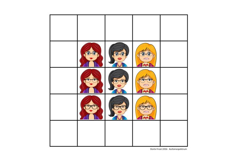 Tiles for the super matrix. Find the belonging board on Autismespektrum on Pinterest. By Autismespektrum.