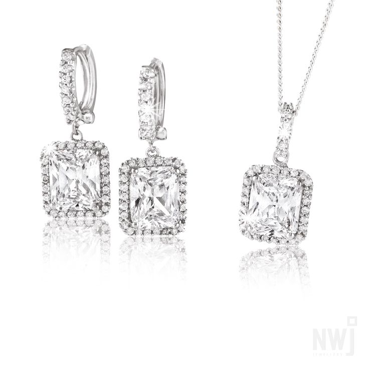 Matching Silver Earrings and Pendant By NWJ