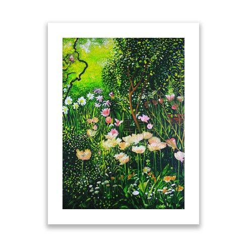 Spring Tulip Flowers  Print by simon-knott-fine-artist at zippi.co.uk
