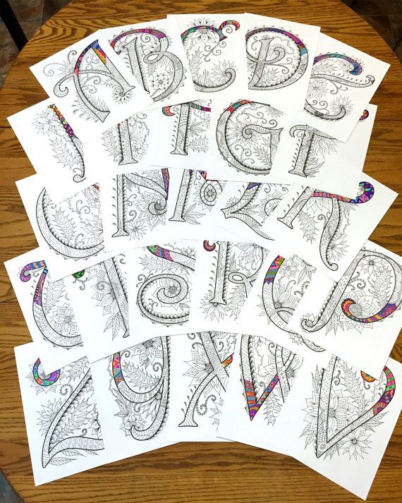 26 Uppercase Zentangle Letters inspired by the font by DJPenscript