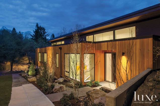 Luxe Magazine: The Exterior of a 1950's inspired Portland Home. #luxe #architecture #house #nature #retro See more at www.luxesource.com.