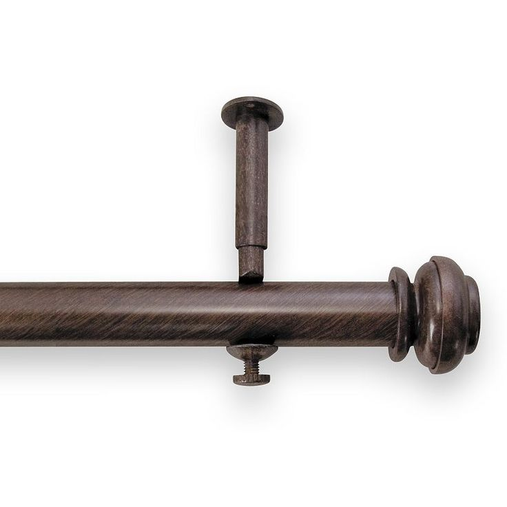 Contato Brown Adjustable Curtain Rod - 144'' - 240''