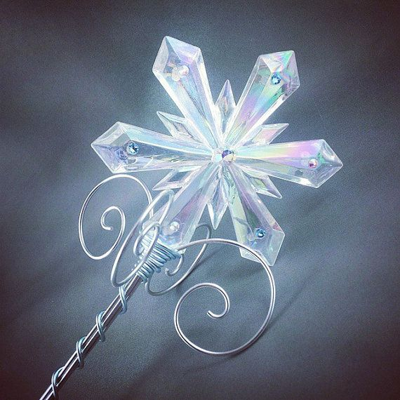 Crystal Ice Queen Sceptre  Frozen Costume Elsa Snow by angelyques