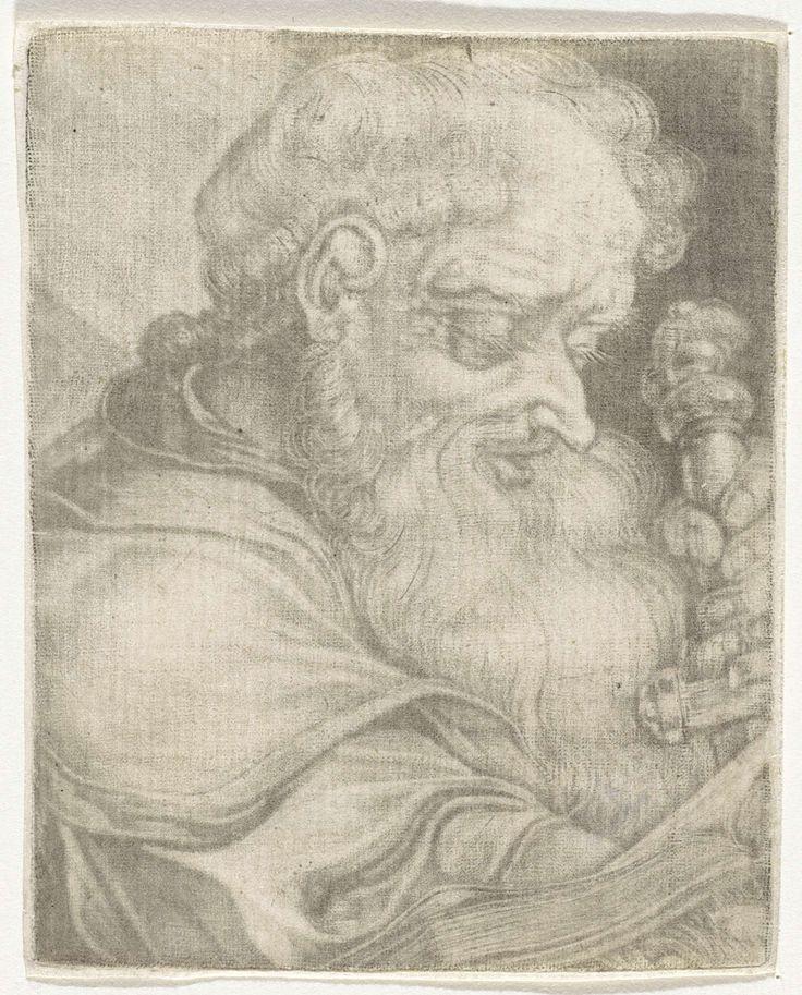 Adriaen van der Werff | Apostel Paulus, Adriaen van der Werff, 1669 - 1722 | De apostel Paulus omvat met beide handen het gevest van een zwaard.