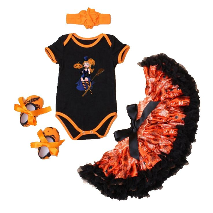>> Click to Buy << Little Witches Fashion Kids Halloween Costumes For Girls Clothes Bodysuit Tutu Skirt Shoes Headband Chidlren Set Infant Clothing #Affiliate
