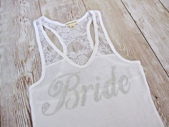 9 Bridesmaid Tank Top Shirt. Bride Maid of by TheLittleBridalShop