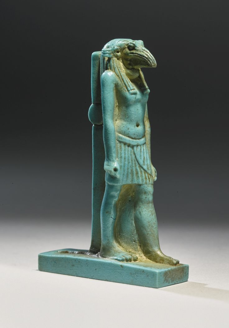 An Egyptian Pale Blue Faience Amulet of Thoth, 26th/ 30th Dynasty, 664-342 B.C. | lot | Sotheby's: