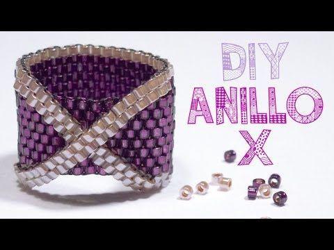 DIY ANILLO CRUZADO PEYOTE ♥ Qué cositas - YouTube