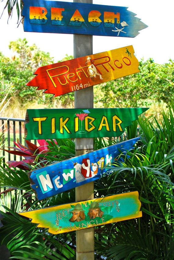 How many miles to paradise? #tropical, #tropical sign, #direction sign, #personalized sign