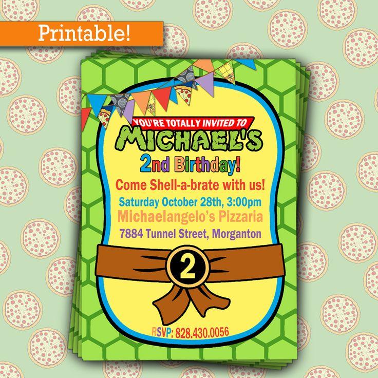 Free Printable Teenage Mutant Ninja Turtles Birthday Party ...