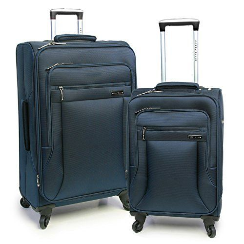 Perry Ellis Fortune Lightweight Expandable Rolling Spinner Business Travel Luggage Set, Navy, One Size *** undefined #Luggage #businesstravelaccessories