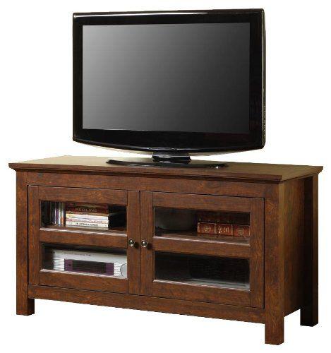 Walker Edison 44 Inch Full Door Wood Tv Stand Console