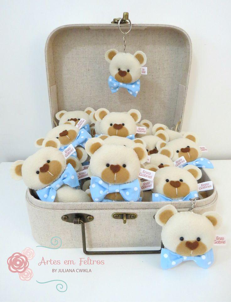Guirlanda de Porta Maternidade Ursinho (Molde Disponível em Apostila Kit Maternidade Ursos)