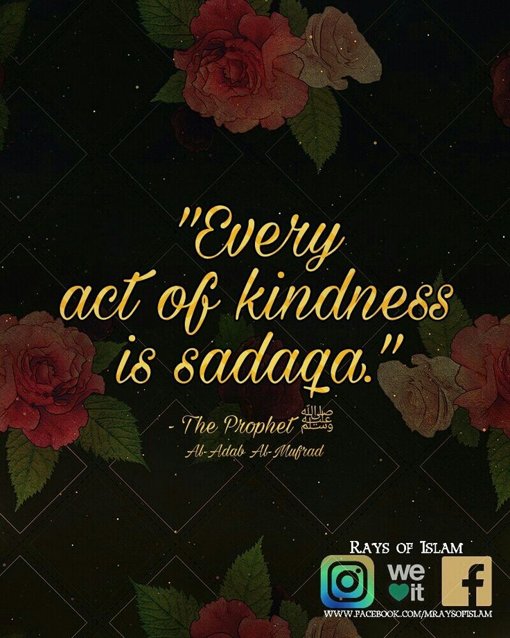 Sadaqah is voluntary charity.   Every act of kindness is sadaqah. - Prophet Muhammad ﷺ
